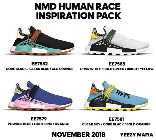 f56d0e92c Pharrell x Adidas NMD Hu  New Colorways Coming This Fall - Pop It ...