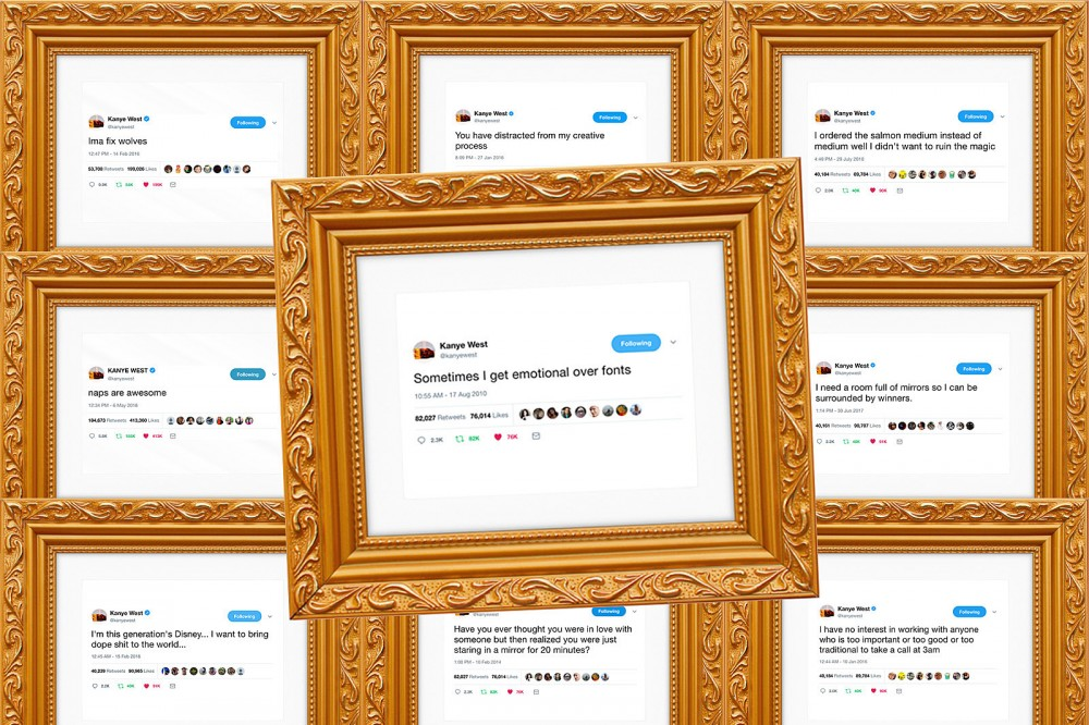 Framed Kanye West Tweets Are Now a Thing You Can Buy - Pop It ...